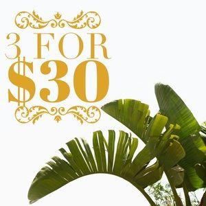 ✨ 3/ $30 Sale! ✨